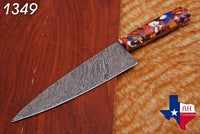 Hand Forged Damascus Steel Chef Knife With Risen Handle AH-1349