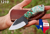 Custom Hand Forged Railroad Carbon Steel Knife With Risen Handle AH-1210
