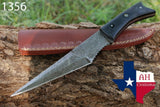 Hand Forged Damascus Steel Hunting Knife With Micarta Handle AH-1356