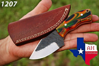 Hand Forged Railroad Carbon Steel Hunting/Skinner Knife With Multi Risen Handle AH-1207