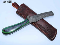 Hand Forged Damascus Steel Bull Cutter/Cowboy Knife With Pukka Wood Handle AH-465