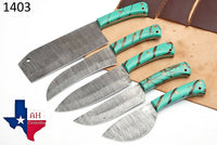 5 Pieces Hand Forged Damascus Steel Chef Kitchen Knives Set With Risen Handle AH-1403