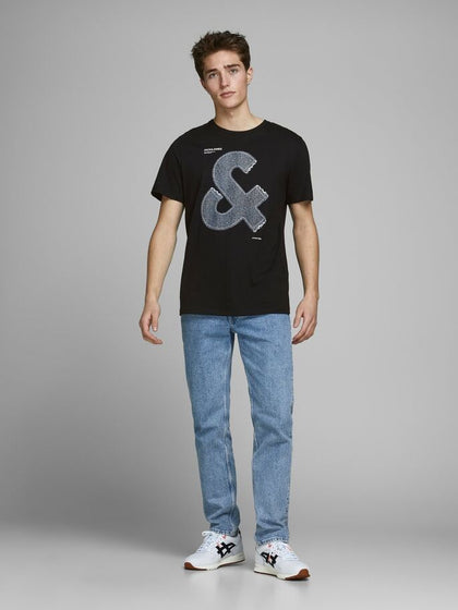 T-SHIRT JACK&JONES RICAMATA IN DENIM 12167185