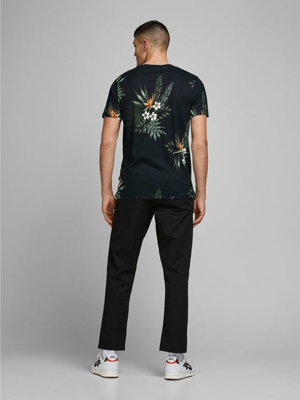 T-SHIRT JACK & JONES CON STAMPA FLOREALE 12170985