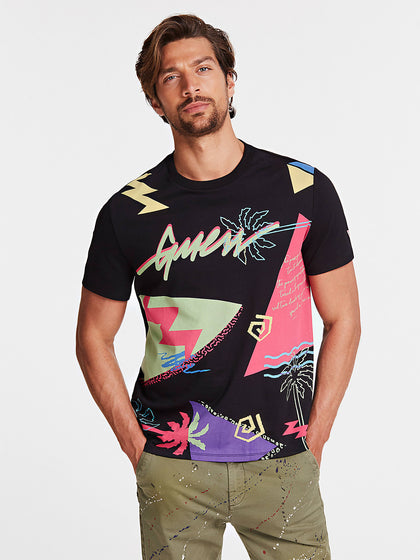 T-SHIRT GUESS STAMPA ALL OVER