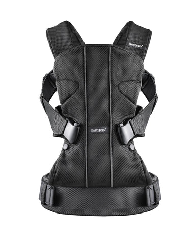 BabyBjorn Baby Carrier One, Black, Mesh