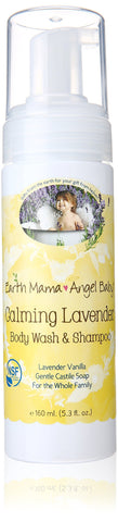 Earth Mama Baby Angel Calming lavender Body wash and shampoo, 160ml