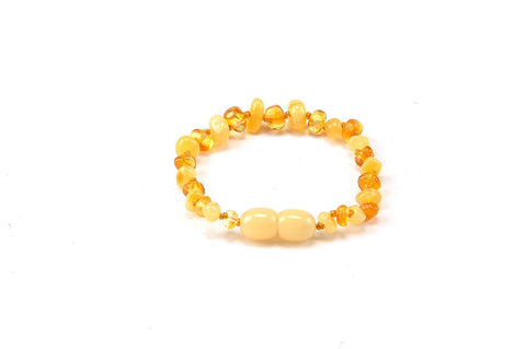Momma Goose Baby Amber Bracelets, 5.5 inches, Limone