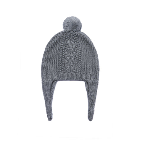 Angel Dear Cozy Pilot Hat, 0-3M, Dark Grey