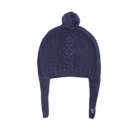 Angel Dear Cozy Pilot Hat, 0-3M, Navy Heather