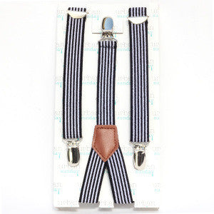 Urban Sunday Suspenders, Black Stripe