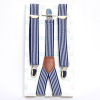 Urban Sunday Suspenders, Navy Stripe