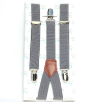 Urban Sunday Suspenders, Solid Grey