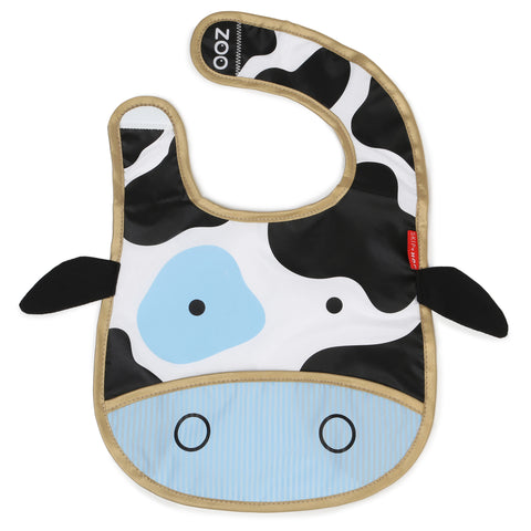 Skip Hop Zoo Tuck Away Bibs, Cow