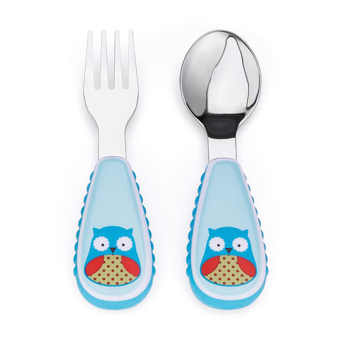 Skip Hop Zootensils Fork and Spoon, Owl