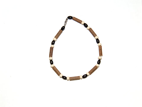 Momma Goose Hazelwood Baby Necklace, 13, Brown/Cream Beads
