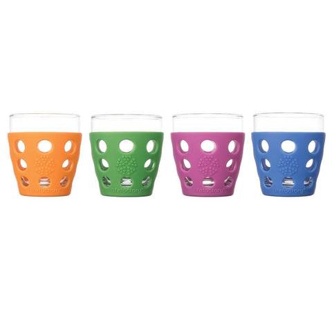 Lifefactory Small Beverage Glass 4pk, 4pk/10oz, Multi