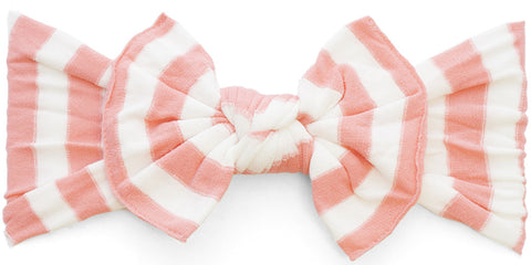 Baby Bling Headbands Patterned Knot, Coral Stripe