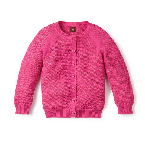 Tea Collection Monica Cardigan, S, FUCHSIA