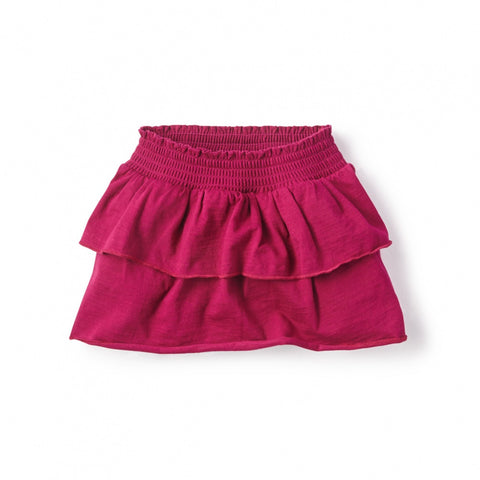 Tea Collection Ready to Ruffle Skirt, 4, Magenta