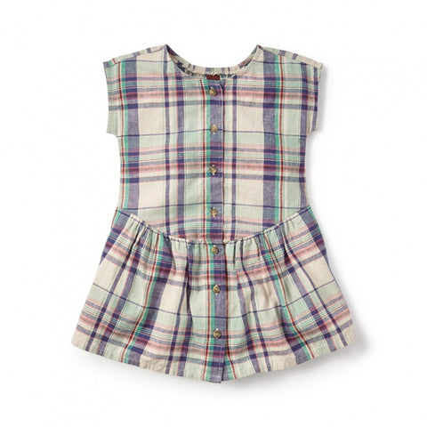 Tea Collection Daniella Buttoned Dress, 4, Feather