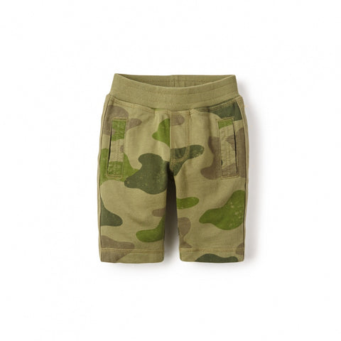 Tea Collection Camo Side Stripe Shorts, 2, Forest