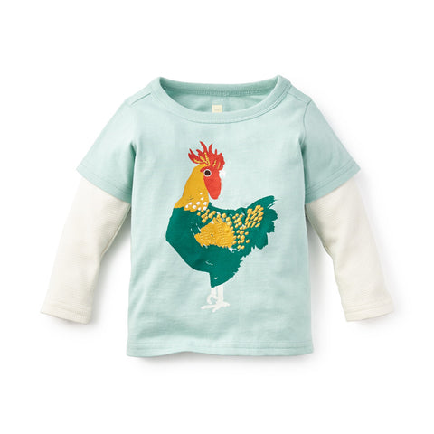 Tea Collection El Gallo Graphic Tee, 3_6, Light Aqua