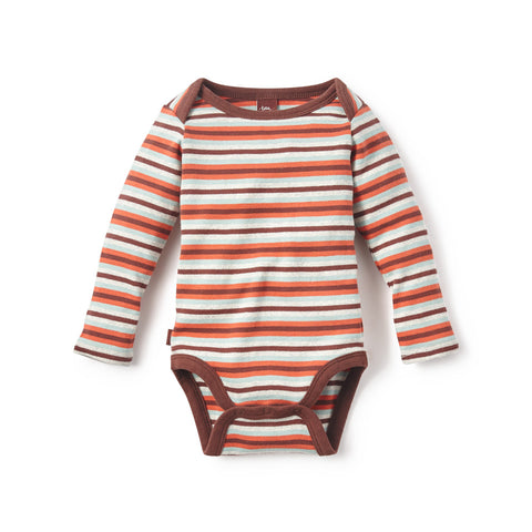 Tea Collection Multistripe Bodysuit, 6_12, Masala