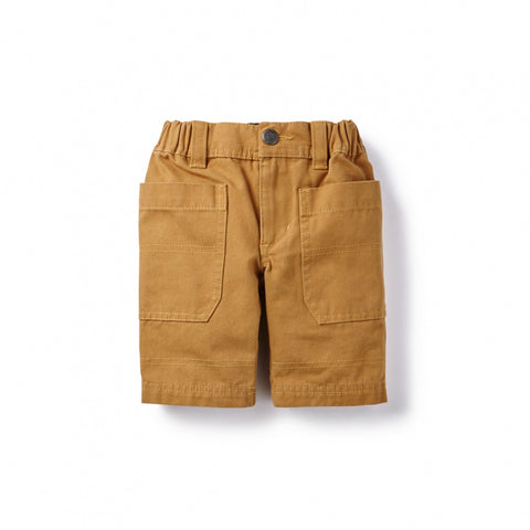 Tea Collection Canvas Cargo Shorts, 3, Raw Umber