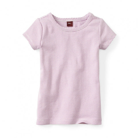 Tea Collection Nikki Mini Stripe Tee, 3, Pink Tulip