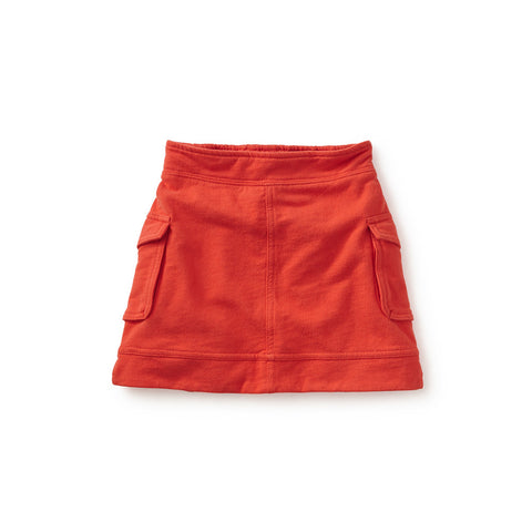 Tea Collection French Terry Cargo Skirt, 3, Fiery Red