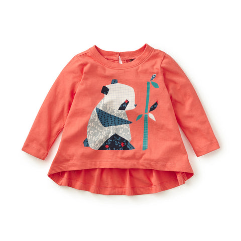 Tea Collection Kiri-e Panda Graphic Tee, 12_18, Sun Pop