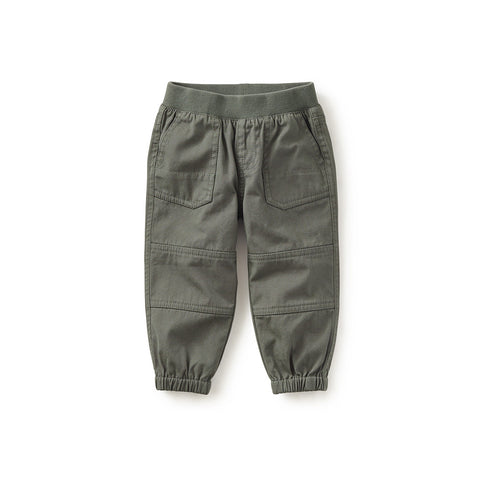 Tea Collection Playwear Baby Pants, 3_6, Olive Drab