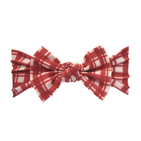 Baby Bling Headbands Printed Knot Headband, Red Plaid