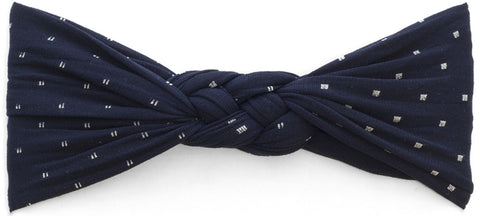 Baby Bling Headbands Sailor Knot, Navy Dot