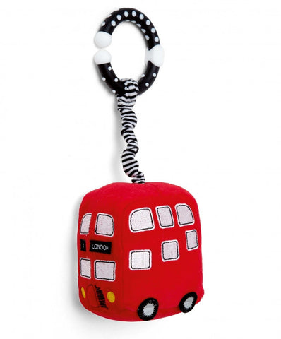 Mamas & Papas Soft Toy - Mini Bus, Red