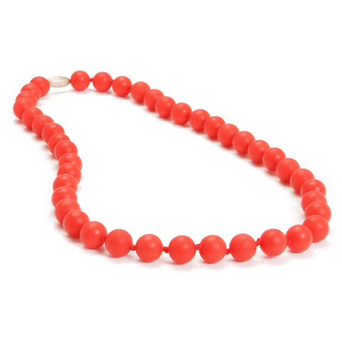 Chewbeads Jane Necklace, Cherry Red