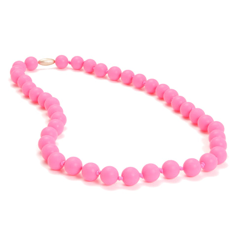 Chewbeads Jane Necklace, Punchy Pink