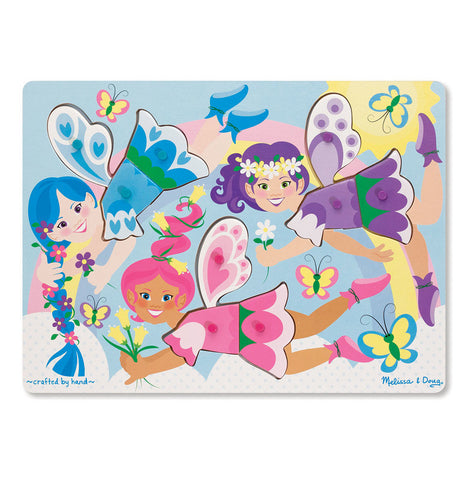 Melissa and Doug Peg Puzzle, Dress-up Fairies