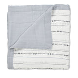 Aden + Anais Bamboo Dream Blanket, Moonlight Bead/Solid Grey