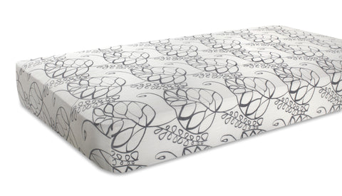 Aden + Anais Silky Soft Crib Sheet, Moonlight - Leafy