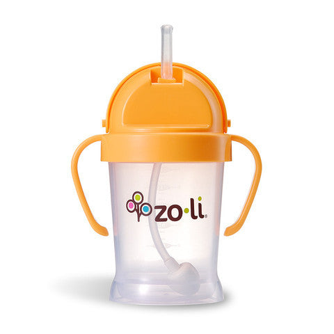Zoli BOT Straw Sippy Cup, Orange
