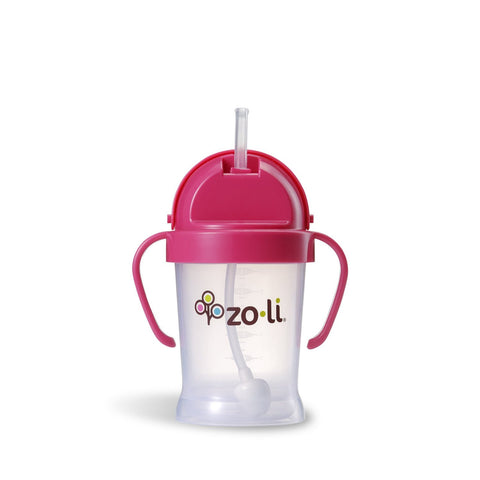 Zoli BOT Straw Sippy Cup, Pink