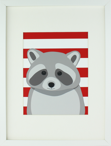 Aldari Art Woodland Nursery Art Print - Raccoon