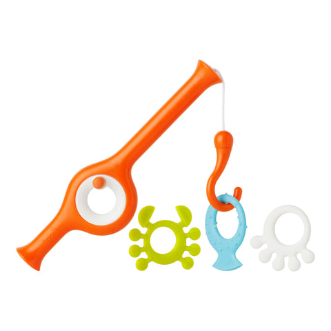 Boon Cast Fishing Pole Bath Toy, Orange