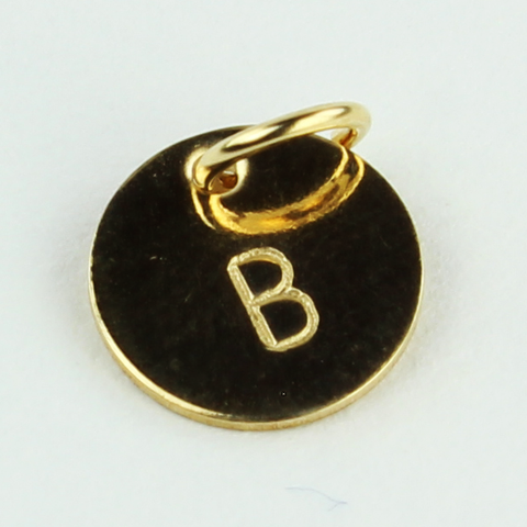 Bluegrass Loft Gold Initial Disc B