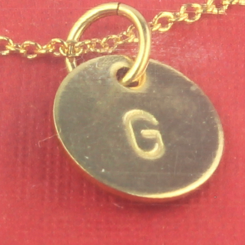 Bluegrass Loft Gold Initial Disc G