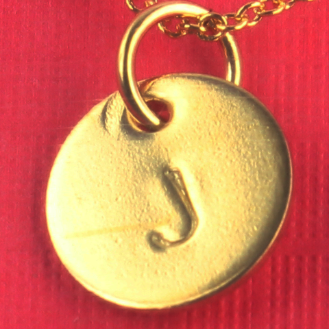 Bluegrass Loft Gold Initial Disc J