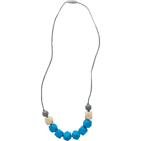 Itzy Ritzy Cube Necklace, Malibu Blue