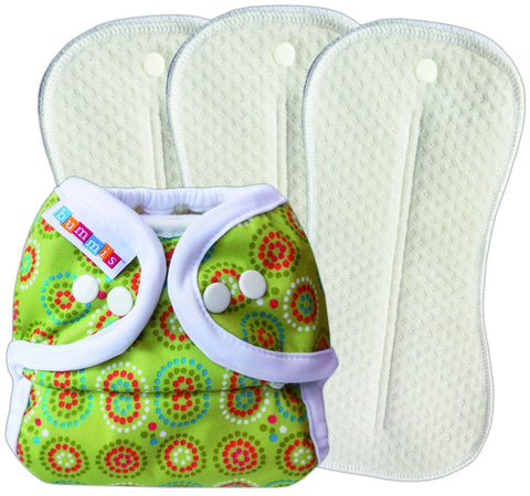 Bummis Duo Brite A12 Deluxe Pack, Size 2, Green